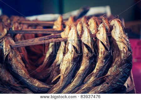 Cold Smoked Fish. Food Industry.