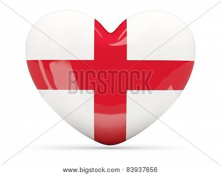 Heart Shaped Icon With Flag Of England