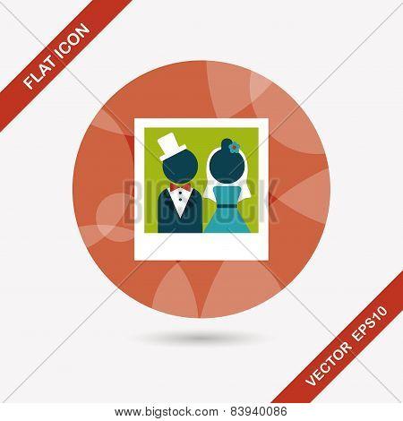 Wedding Photo Flat Icon With Long Shadow,eps10