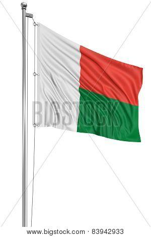 3D flag of Madagascar