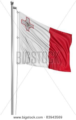 3D flag of Malta
