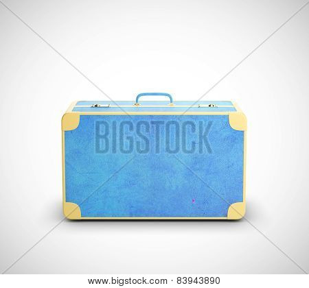 Blue Leather Suitcase