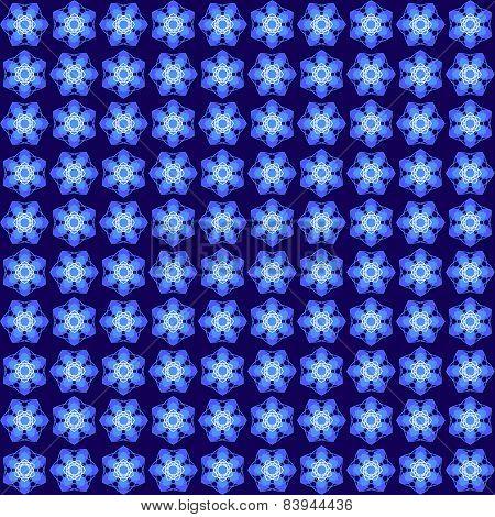 Blue abstract geometric seamless pattern