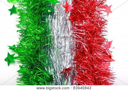 Flag Of Italy From Christmas Tinsel