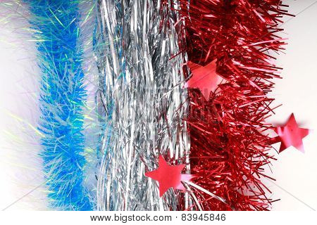 Flag Of France From Christmas Tinsel