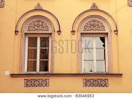 Beautiful Old Ornate Windows In Medieval Innsbruck, Austria.