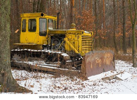 Tractor In The Woods