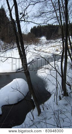 Thawing river