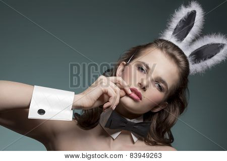 Sexy Girl With Bunny Ears