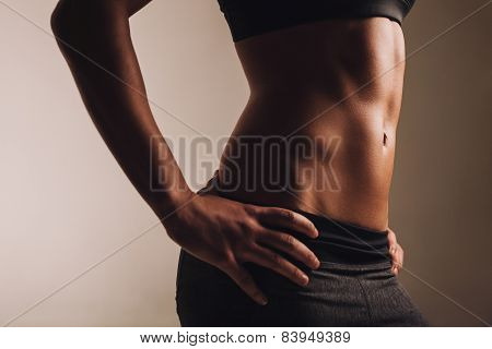 Abs Of Fit Young Woman