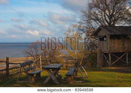 Wooden House And The River