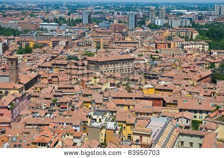 Panoramic view of Bologna. Emilia Romagna. Italy.