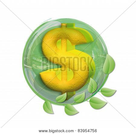 Dollar In A Ball