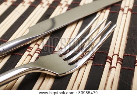 Fork And Knife Closeup