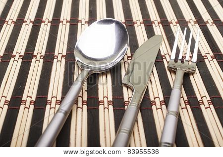 Cutlery On Placemats