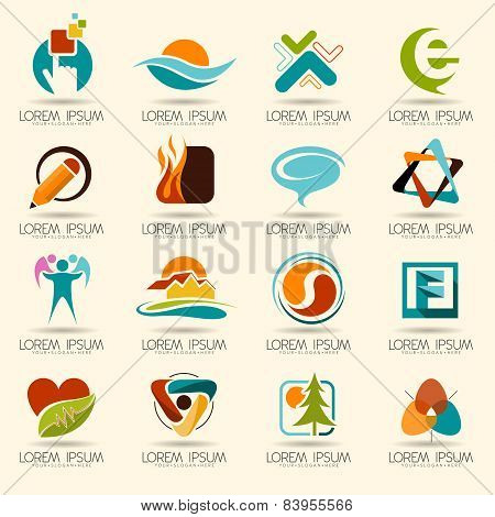 Logo element and Abstract web Icon