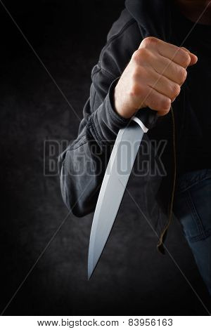 Robber With Big Sharp Knife