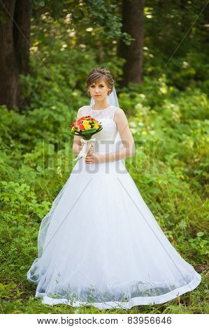 beautiful bride on the wedding day