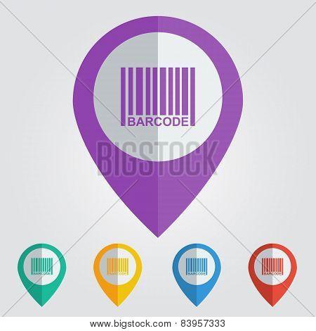 vector barcode flat