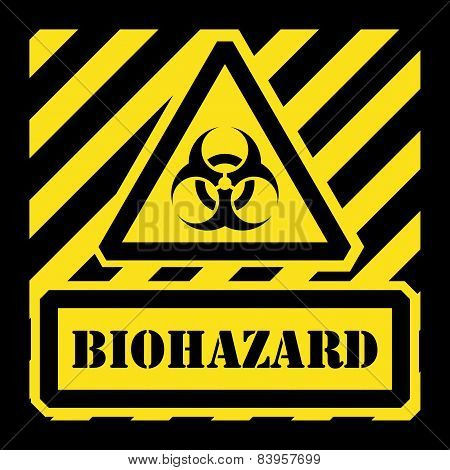 Vector biohazard sign yellow and black