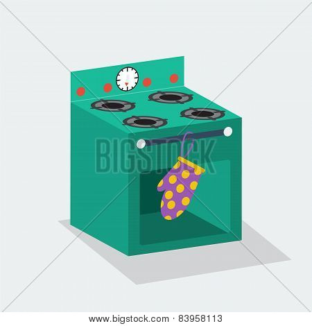 Vector cake box close