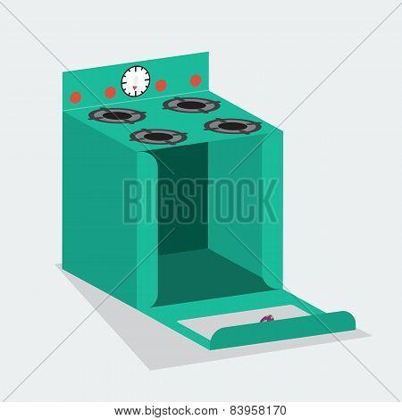 Vector cake box open