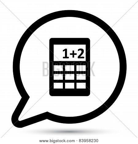 Vector bubble with calculator icon