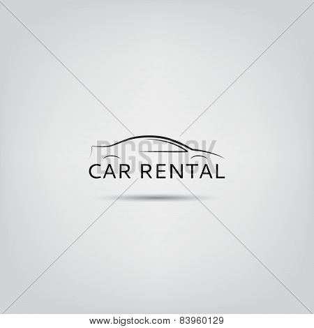 Vector Template Of Car Rental Logo