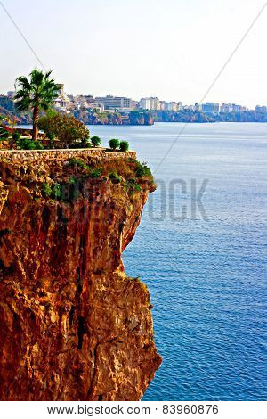 Digital Painting Of The Turkish Coastline Resort Of Antalya