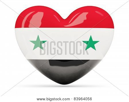Heart Shaped Icon With Flag Of Syria