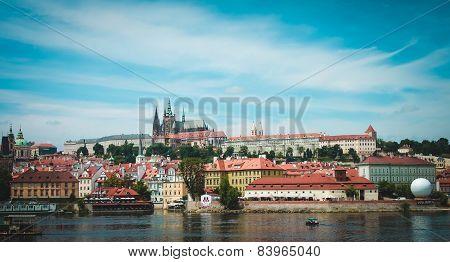 Landscape. Panorama Of Prague. Czeh Republic.