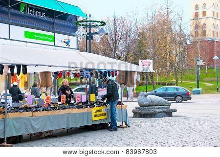 Lappeenranta. Finland. Pedestrian zone Oleksi