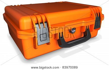 3D Orange Hard Case