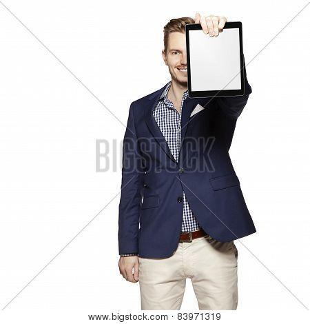 Showing A Digital Tablet