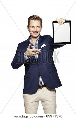 Showing Something On Tablet