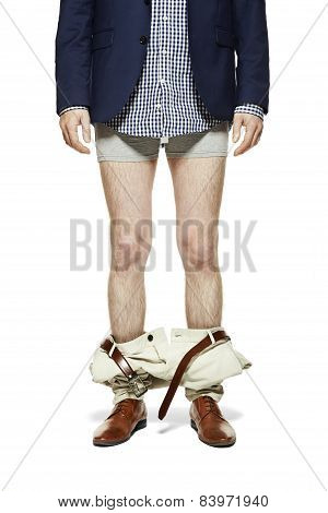 Man With Pants Down