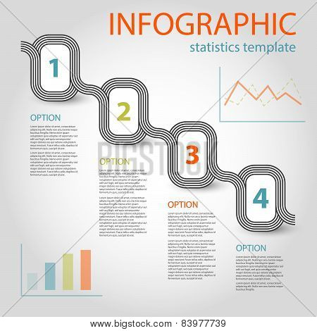 Business Infographic 4 Steps Timeline Template