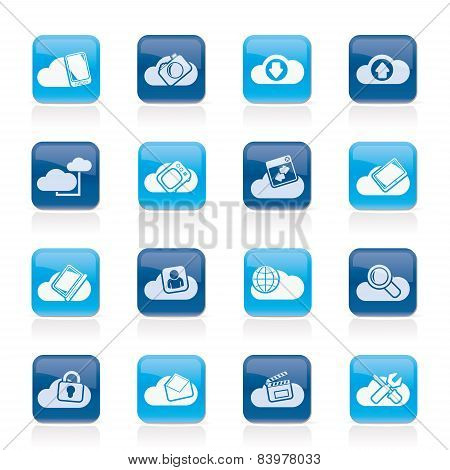 cloud services and objects icons