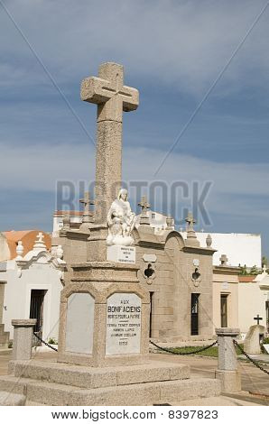 Religious Monument Mausoleums Marine Cemetery Graveyard Bonifacio Corsica France