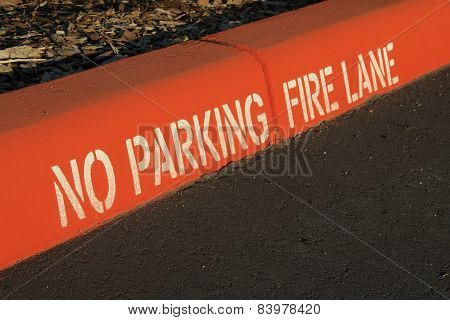 No Parking Fire Lane Curb
