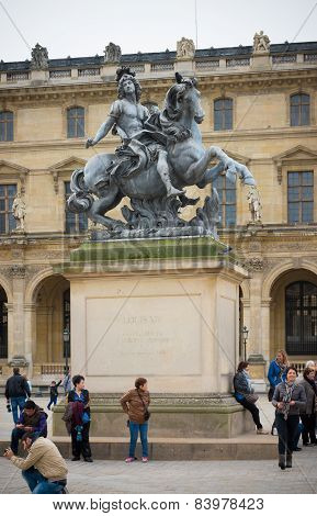 King Louis Xiv Statue In Paris