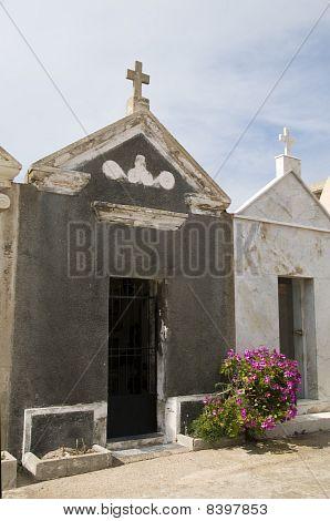 Mausoleums Marine Cemetery Graveyard Bonifacio Corsica France
