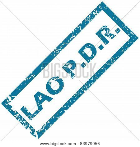 Lao rubber stamp