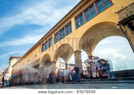 Famous Ponte Vecchio In Florence, Tuscany