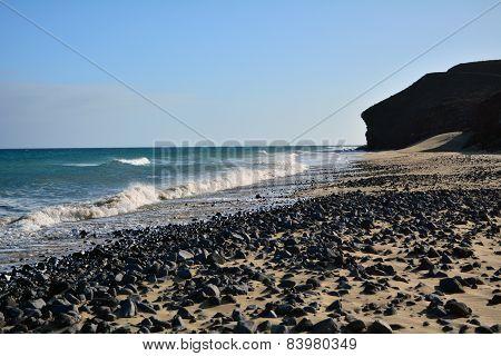 Beach near Costa Calma on the Canary Island Fuerteventura, Spain
