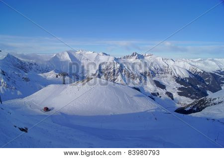 Mountains in snow