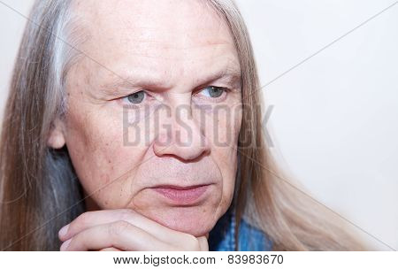 Elderly Man Dreams About His Life