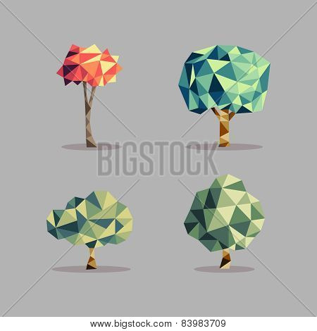Triangle Abstract Tree Set