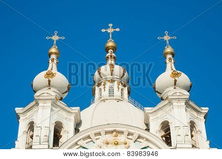 Dome Of The Smolny Cathedral