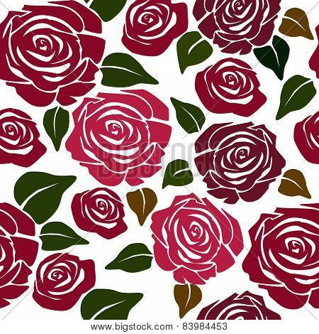 Seamless Flower Patternwith Roses